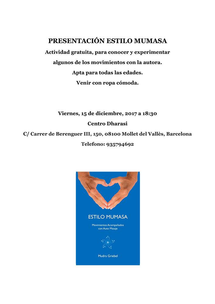 Presentación Estilo Mumasa, Centro Dharasi, Mollet del Vallès, Barcelona