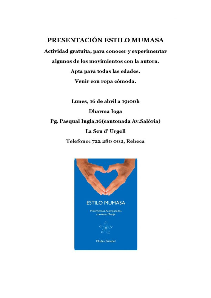 Presentación Estilo Mumasa, La Seu d'Urgell