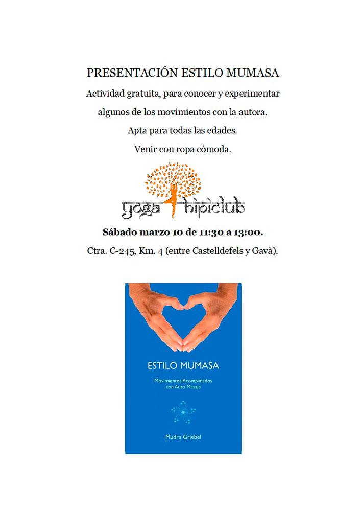 Presentación Estilo Mumasa, Yoga Hipiclub, Castelldefels